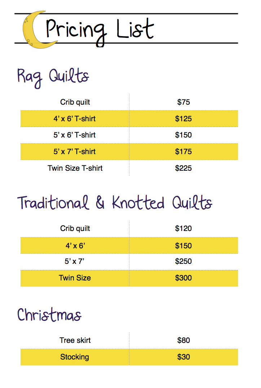 Pricing List