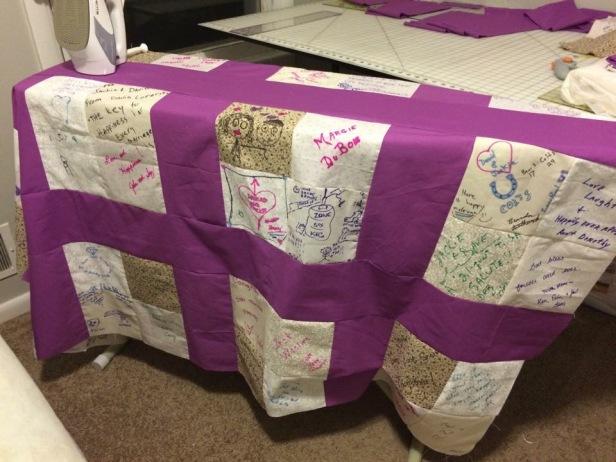 wedding quilt top