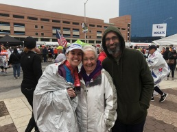 family after half marathon