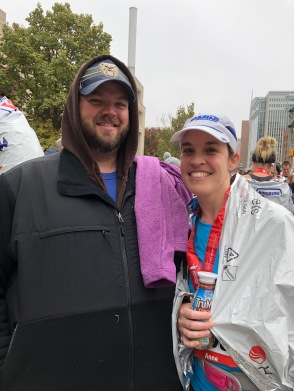 couple after half marathon
