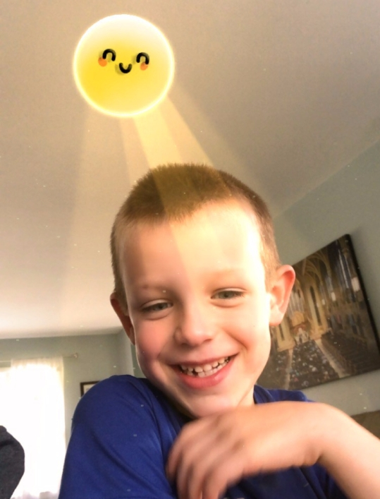 boy in funny picture
