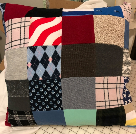 scrappy pillow cover