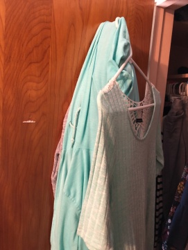 teal clothes
