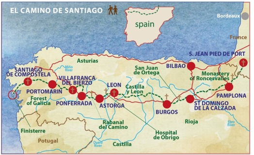 camino-de-santiago-map-french-way-itineary-caspin-journeys-walking-tour