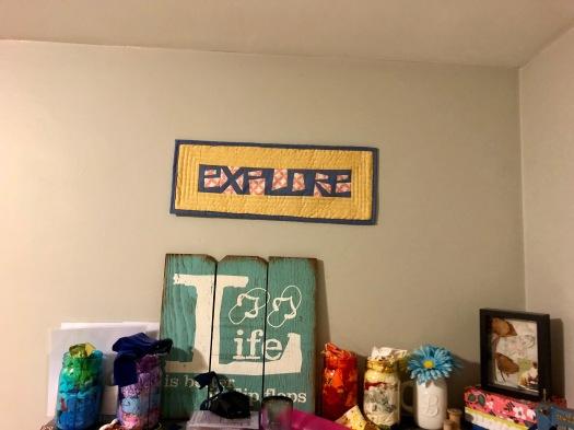 sewing room shelf