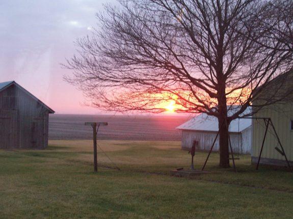 east view of sunrise